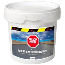 ARCACIM PISCINE - Enduit de cuvelage imperméabilisation hydrofuge piscine bassin à base de ciment et résine citerne bac tampon