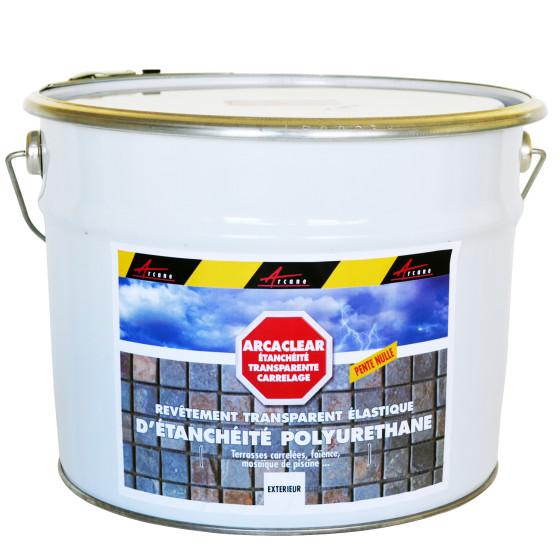 résine etancheite transparente polyuréthane carrelage terrasse balcon piscine - ARCACLEAR
