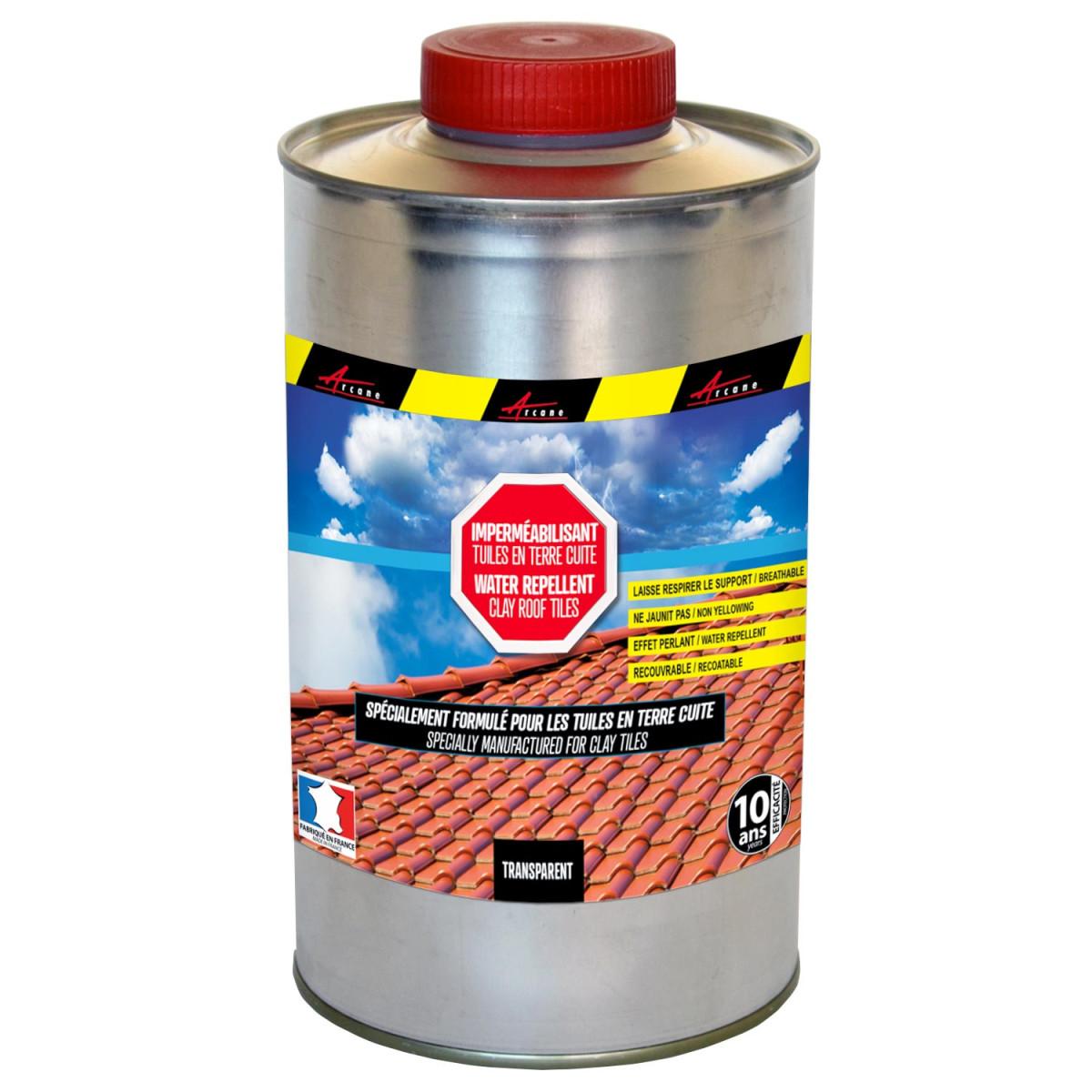 Hydrofuge impérméabilisant incolore pour tuiles en terre cuite: IMPERTOITURE TERRE CUITE