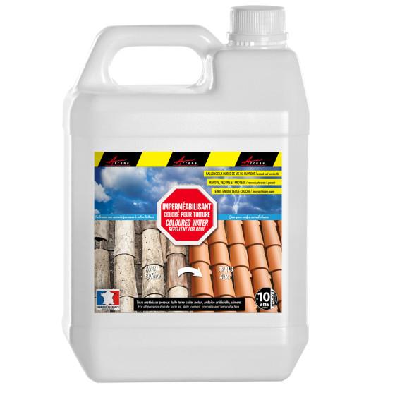 Hydrofuge coloré professionnel pour toiture terre cuite, béton, ciment, fibrociment, ardoise hydrofuge - COLORHYDRO