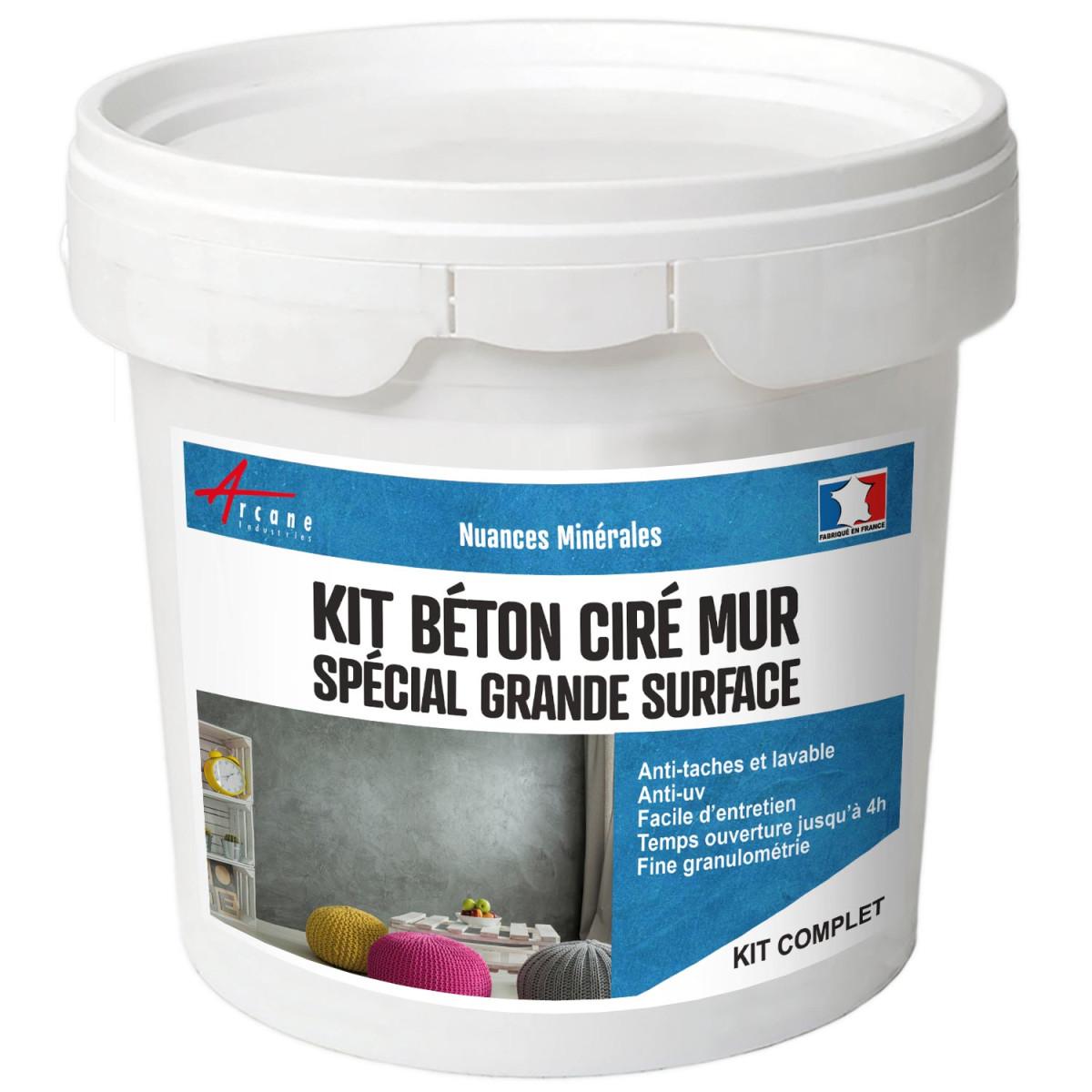 KIT BÉTON CIRÉ MURS GRANDE SURFACE - Béton ciré spécial murs