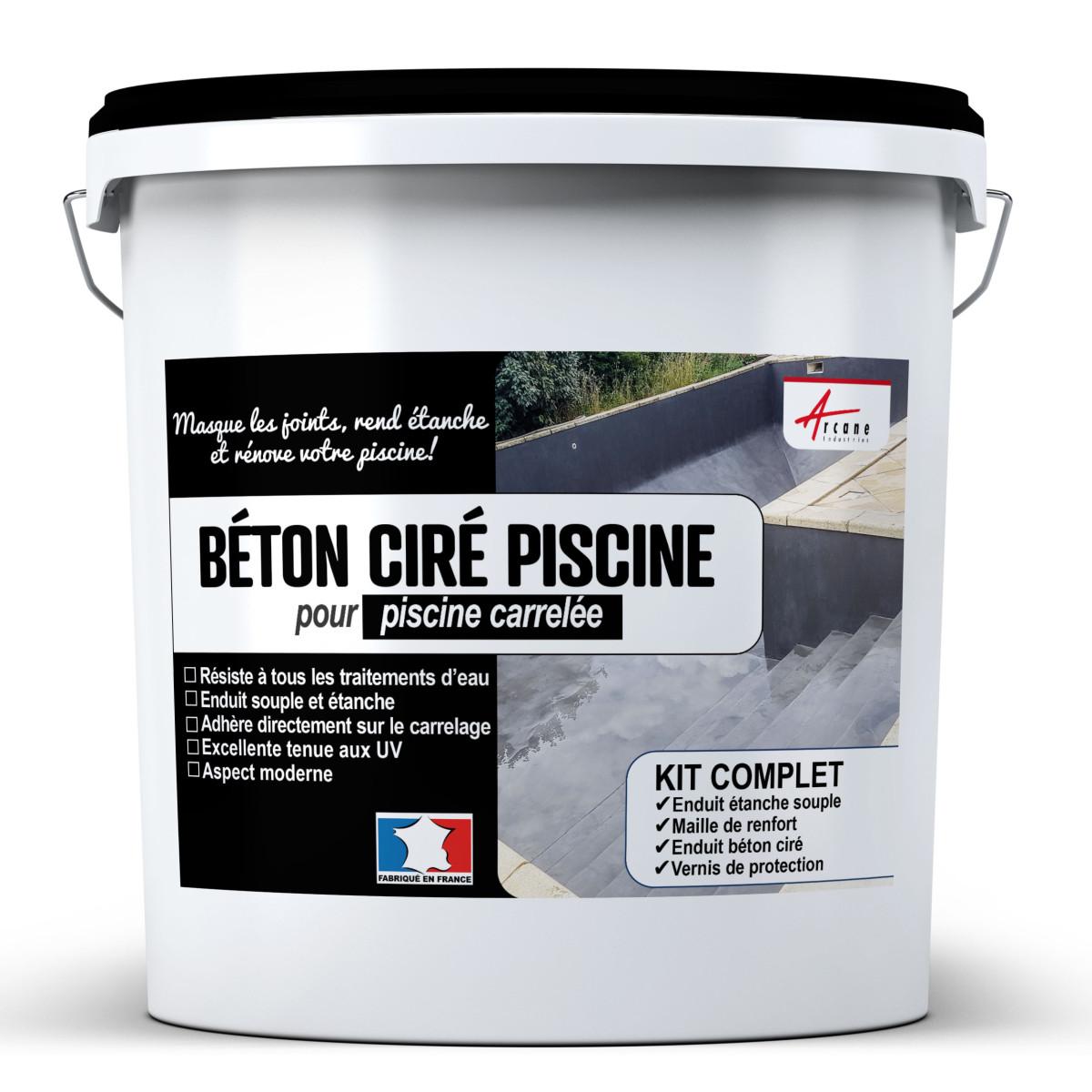 Kit Béton ciré piscine carrelée - revêtement étanche PISCINE haute résistance