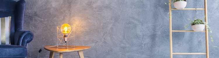 béton ciré mural lumières