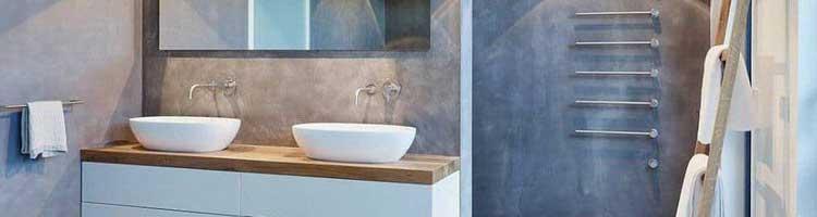 beton cire mural salle de bains