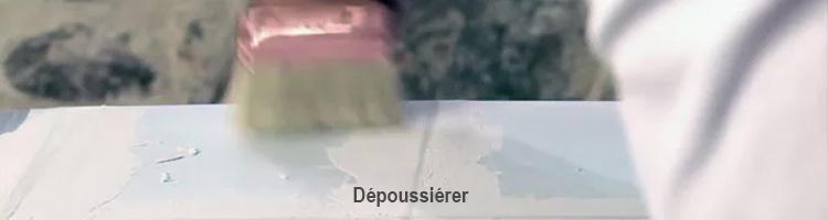 dépoussiérez la colle carrelage avant application du béton ciré