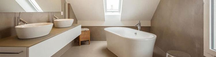 rénovation d'une salle de bain en béton ciré maison etanche