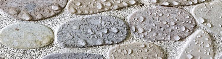 Etanchéité carrelage douche salle de bains mosaique galets