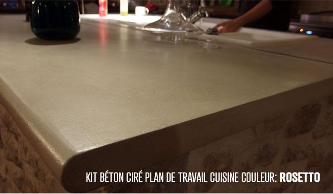 Kit Béton Ciré Cuisine Plan De Travail Très Résistant Aux Huiles,  Stagnation Du0027eau