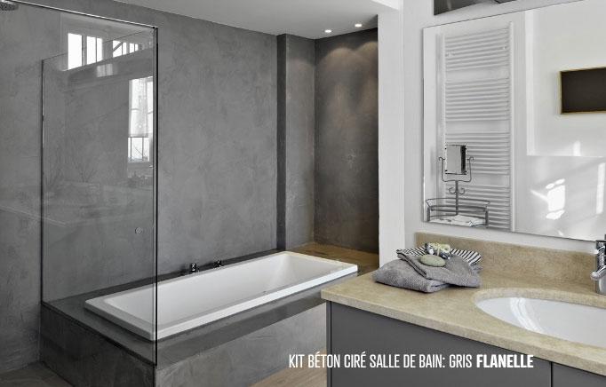 Salle De Bain Beton Cire Gris | Idées décoration - Idées décoration