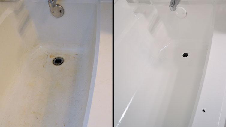 repeindre baignoire, peinture baignoire avant après